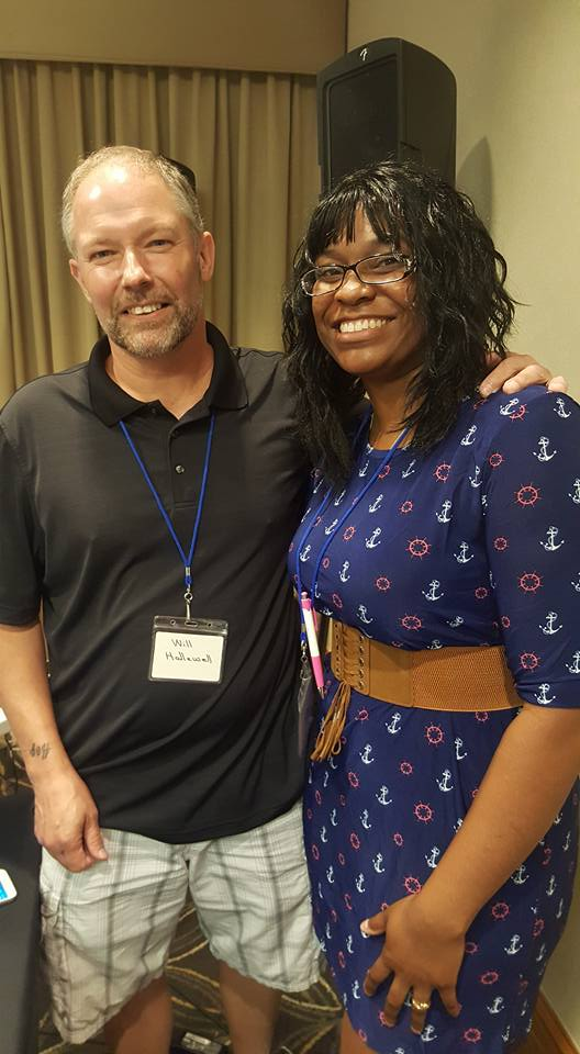 Author Will Hallewell and I